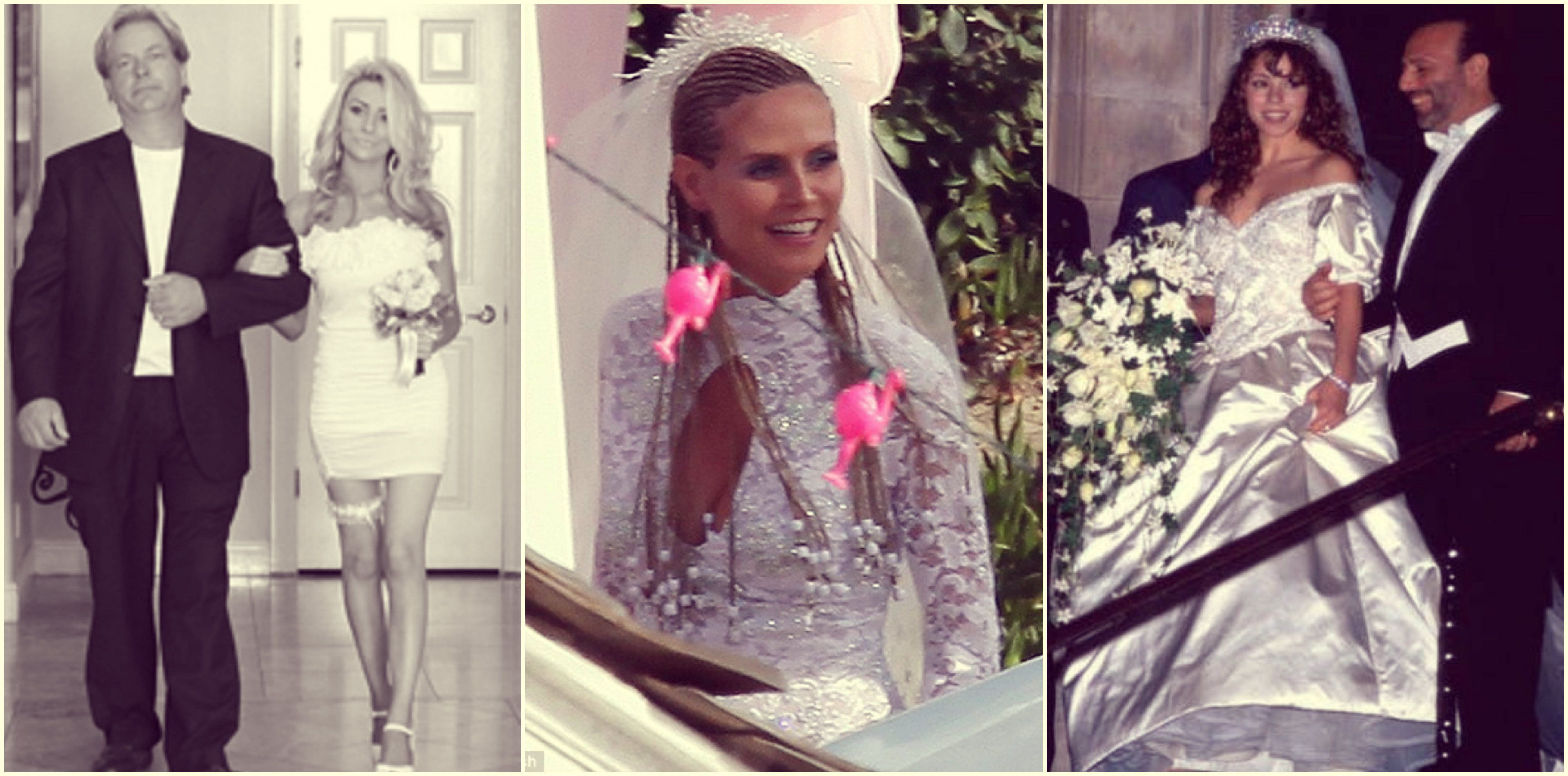 Wedding Dress Fails: 16 Times Famous Stars Shocked All Of Us