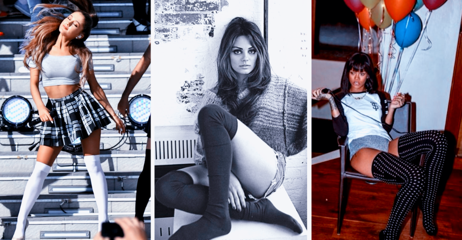 72427dccf Steamy Pics Of Celebs Wearing Knee High Socks (That Make Men Weak)