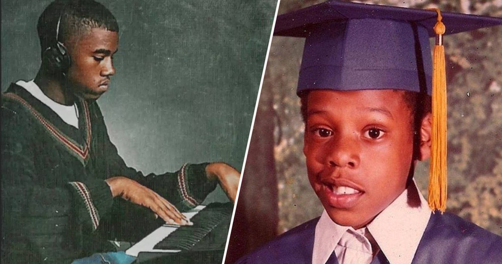 10 Rare Pictures Of Young Jay Z And 10 Of Young Kanye West